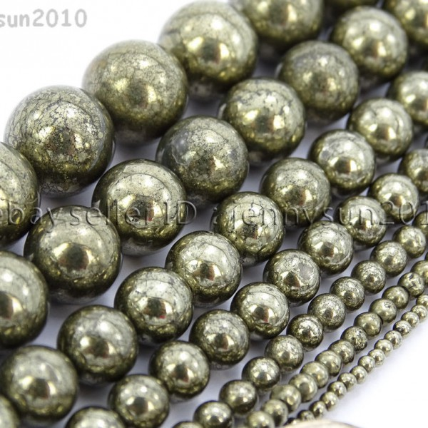 Natural-Grey-Silver-Pyrite-Gemstone-Round-Beads-16-2mm-4mm-6mm-8mm-10mm-12mm-370688467186