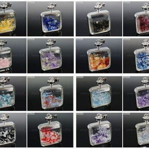 Natural-Healing-Gemstones-Crystal-Square-Wishing-Bottle-Pendant-Necklace-Charms-261902937587