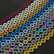 Natural-Hematite-Gemstone-Round-Donut-Ring-Spacer-Loose-Beads-10mm-16-Strand-371802208895-2