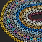 Natural-Hematite-Gemstone-Round-Donut-Ring-Spacer-Loose-Beads-10mm-16-Strand-371802208895-4
