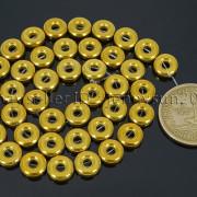 Natural-Hematite-Gemstone-Round-Donut-Ring-Spacer-Loose-Beads-10mm-16039039-Strand-371802208895-33c5