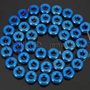 Natural-Hematite-Gemstone-Round-Donut-Ring-Spacer-Loose-Beads-10mm-16039039-Strand-371802208895-ece9