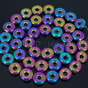 Natural-Hematite-Gemstone-Round-Donut-Ring-Spacer-Loose-Beads-10mm-16039039-Strand-371802208895-f95a