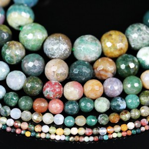 Natural-Indian-Agate-Gemstone-Faceted-Round-Beads-15-2mm-4mm-6mm-8mm-10mm-12mm-370926552339