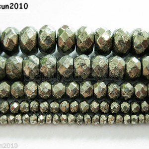 Natural-Iron-Pyrite-Gemstone-Faceted-Rondelle-Beads-16-3mm-4mm-6mm-8mm-10mm-261127970042