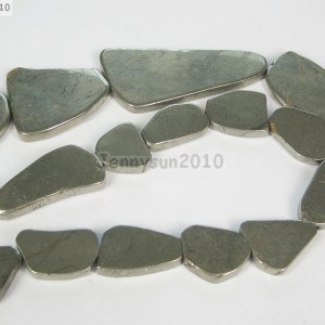 Natural-Iron-Pyrite-Gemstone-Freeformed-Nugget-Flat-Slab-Sliced-Beads-155-261348182100