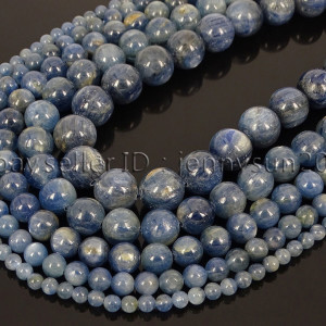 Natural-Kyanite-Gemstone-Round-Loose-Spacer-Beads-15-4mm-6mm-8mm-10mm-12mm-262720197092