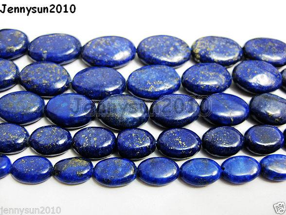 Natural-Lapis-Lazuli-Gemstone-Oval-Beads-16-8mm-10mm-12mm-14mm-16mm-18mm-20mm-251094618629
