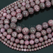 Natural-Lepidolite-Gemstones-Round-Spacer-Loose-Beads-15-4mm-6mm-8mm-10mm-12mm-262734259652
