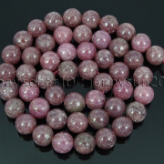 Natural-Lepidolite-Gemstones-Round-Spacer-Loose-Beads-15quot-4mm-6mm-8mm-10mm-12mm-262734259652-8761