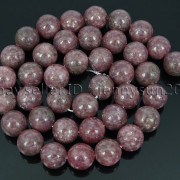 Natural-Lepidolite-Gemstones-Round-Spacer-Loose-Beads-15quot-4mm-6mm-8mm-10mm-12mm-262734259652-f09e