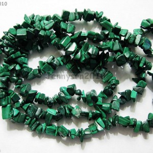 Natural-Malachite-Gemstone-5-8mm-Chip-Beads-35-For-Bracelet-or-Necklace-Making-370877460626