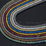 Natural-Matte-Hematite-Gemstones-2mm-x-3mm-Faceted-Rondelle-Loose-Beads-16-282281927897-2