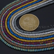 Natural-Matte-Hematite-Gemstones-2mm-x-3mm-Faceted-Rondelle-Loose-Beads-16-282281927897-3
