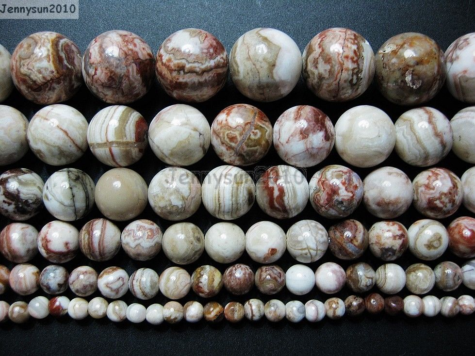 8MM  CRAZY LACE AGATE GEMSTONE  ROUND 8MM LOOSE BEADS 7/""