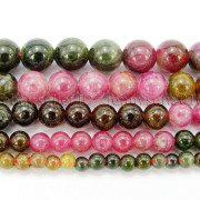 Natural-Multi-Colored-Tourmaline-Gemstone-Round-Spacer-Beads-15-4mm-6mm-8mm-282372758407
