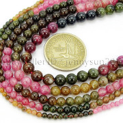 Natural-Multi-Colored-Tourmaline-Gemstone-Round-Spacer-Beads-15-4mm-6mm-8mm-282372758407-3