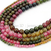 Natural-Multi-Colored-Tourmaline-Gemstone-Round-Spacer-Beads-15-4mm-6mm-8mm-282372758407-4