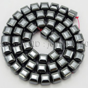 Natural-Non-Magnetic-Hematite-Gemstone-8mm-Faceted-Cube-Square-Loose-Beads-16quot-262749794720-0cf7
