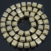 Natural-Non-Magnetic-Hematite-Gemstone-8mm-Faceted-Cube-Square-Loose-Beads-16quot-262749794720-ac1c