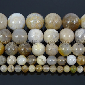 Natural-Oceam-Fossil-Coral-Agate-Gemstone-Round-Beads-155-Strand-4mm-6mm-8mm-282292446464