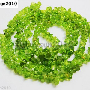 Natural-Olivine-Gemstone-3mm-8mm-Nugget-Loose-Spacer-Beads-36-Inches-Strand-251098043651