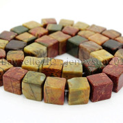 Natural-Picasso-Jasper-Gemstone-Square-Cube-Loose-Spacer-Beads-155-8mm-10mm-262548411500