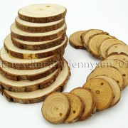 Natural-Pine-Tree-Wood-Sliced-Top-Drilled-Round-Pendant-Charm-Beads-25CM-9CM-371624762917