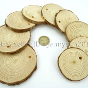 Natural-Pine-Tree-Wood-Sliced-Top-Drilled-Round-Pendant-Charm-Beads-25CM-9CM-371624762917-3