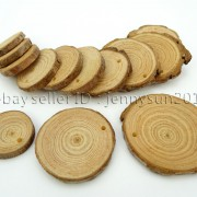 Natural-Pine-Tree-Wood-Sliced-Top-Drilled-Round-Pendant-Charm-Beads-25CM-9CM-371624762917-590a