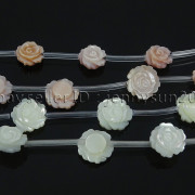 Natural-Pink-White-Mother-Of-Pearl-MOP-Shell-Rose-Flower-Carved-Spacer-Beads-282243061751-2