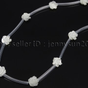 Natural-Pink-White-Mother-Of-Pearl-MOP-Shell-Rose-Flower-Carved-Spacer-Beads-282243061751-2956