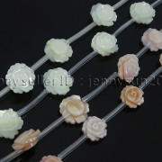 Natural-Pink-White-Mother-Of-Pearl-MOP-Shell-Rose-Flower-Carved-Spacer-Beads-282243061751-3