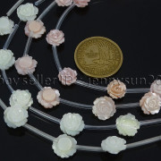 Natural-Pink-White-Mother-Of-Pearl-MOP-Shell-Rose-Flower-Carved-Spacer-Beads-282243061751-4