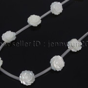 Natural-Pink-White-Mother-Of-Pearl-MOP-Shell-Rose-Flower-Carved-Spacer-Beads-282243061751-40ea