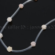 Natural-Pink-White-Mother-Of-Pearl-MOP-Shell-Rose-Flower-Carved-Spacer-Beads-282243061751-56e5