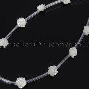 Natural-Pink-White-Mother-Of-Pearl-MOP-Shell-Rose-Flower-Carved-Spacer-Beads-282243061751-5c62