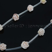 Natural-Pink-White-Mother-Of-Pearl-MOP-Shell-Rose-Flower-Carved-Spacer-Beads-282243061751-7a81