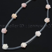 Natural-Pink-White-Mother-Of-Pearl-MOP-Shell-Rose-Flower-Carved-Spacer-Beads-282243061751-94a5