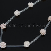 Natural-Pink-White-Mother-Of-Pearl-MOP-Shell-Rose-Flower-Carved-Spacer-Beads-282243061751-a874