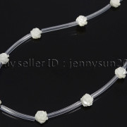 Natural-Pink-White-Mother-Of-Pearl-MOP-Shell-Rose-Flower-Carved-Spacer-Beads-282243061751-a9f4