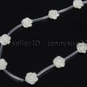 Natural-Pink-White-Mother-Of-Pearl-MOP-Shell-Rose-Flower-Carved-Spacer-Beads-282243061751-adef