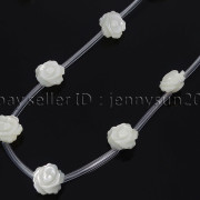 Natural-Pink-White-Mother-Of-Pearl-MOP-Shell-Rose-Flower-Carved-Spacer-Beads-282243061751-bc3e