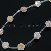 Natural-Pink-White-Mother-Of-Pearl-MOP-Shell-Rose-Flower-Carved-Spacer-Beads-282243061751-f6b8