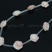 Natural-Pink-White-Mother-Of-Pearl-MOP-Shell-Rose-Flower-Carved-Spacer-Beads-282243061751-fd49