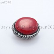 Natural-Red-Coral-Gemstones-Czech-Crystal-Rhinestones-Round-Nugget-Charm-Beads-371498741483-460c