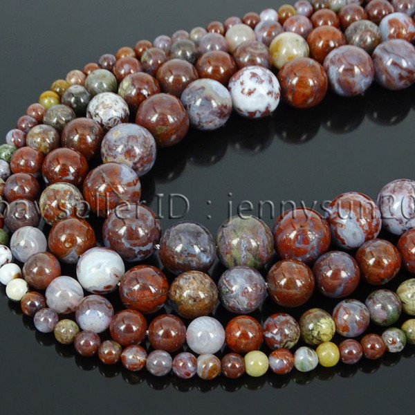 Natural-Red-Lightning-Agate-Gemstone-Round-Spacer-Beads-155-4mm-6mm-8mm-10mm-262803277642