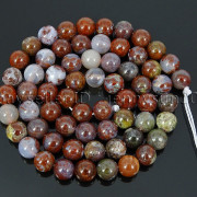 Natural-Red-Lightning-Agate-Gemstone-Round-Spacer-Beads-155039039-4mm-6mm-8mm-10mm-262803277642-56e9
