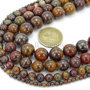 Natural-Red-Tiger-Iron-Gemstone-Round-Spacer-Beads-155-4mm-6mm-8mm-10mm-12mm-262886332529-3