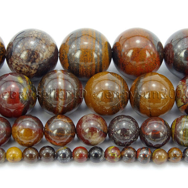 Natural-Red-Tiger-Iron-Gemstone-Round-Spacer-Beads-155-4mm-6mm-8mm-10mm-12mm-262886332529